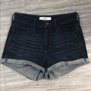 Hollister Dark Wash High Waisted Jean Shorts